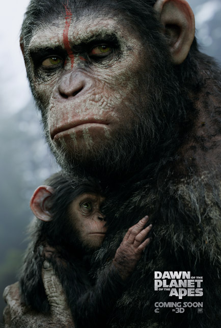 Dawn of the Planet of the Apes Caesar Baby Poster