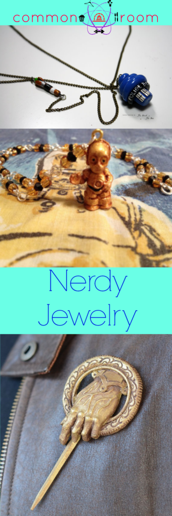 Nerdy Necklaces and Pins Jewelry Fandom Five