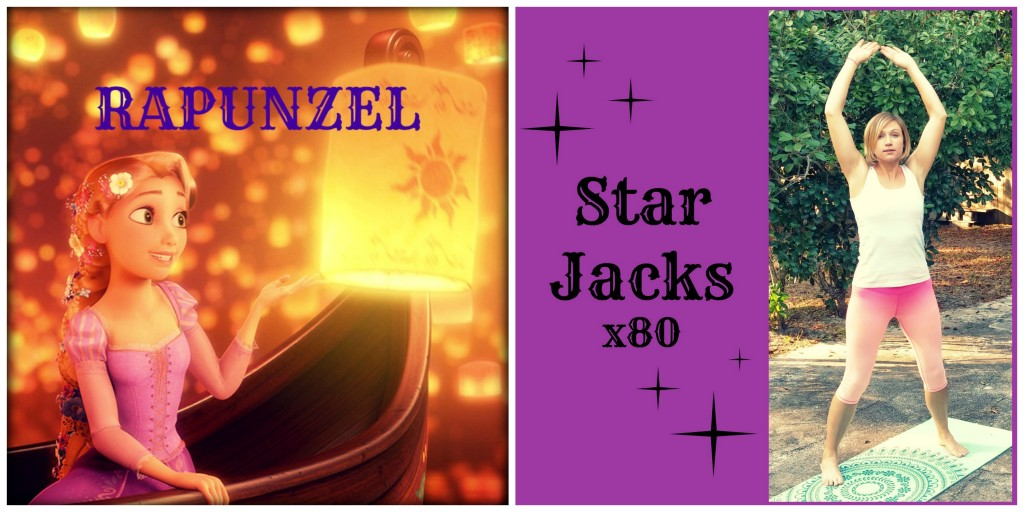 Princess Approved Rapunzel Star Jacks Jumping Jacks