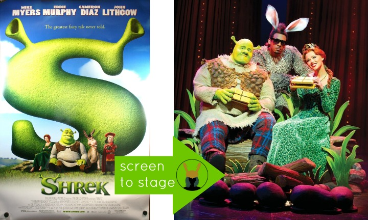 Shrek movie Screen to Stage