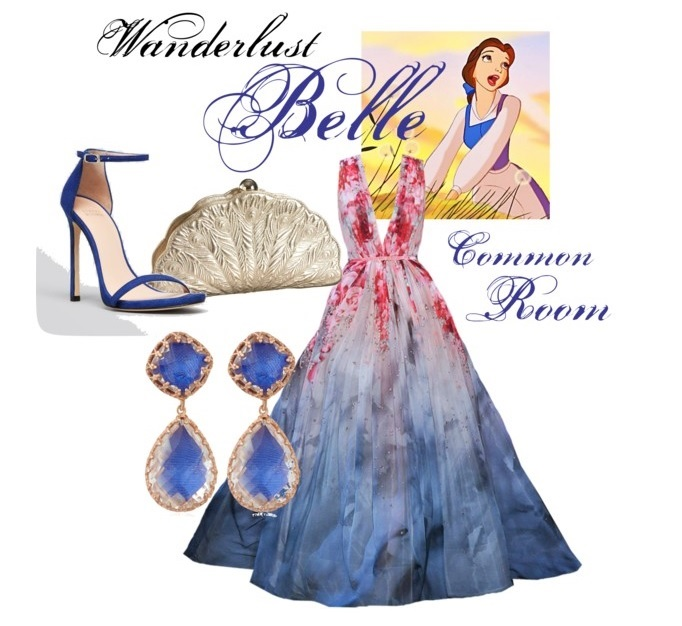 Common Room Belle Inspired Blue Gown for Cinderella's Ball