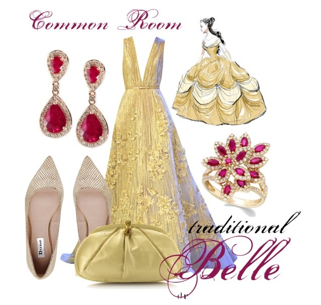 Common Room Belle Inspired Yellow Gown for Cinderella's Ball