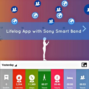 Lifelog with Sony Smart Band