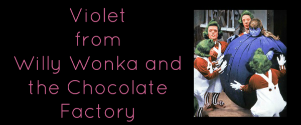 Violet Willy Wonka Charlie and the Chocolate Factory