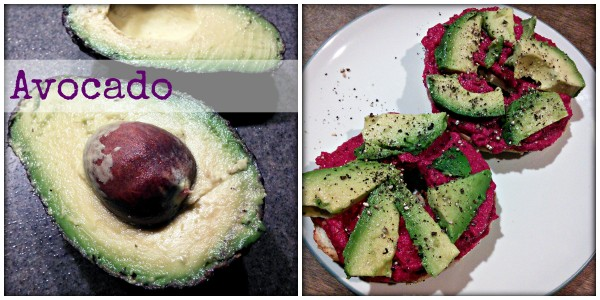super food avocado and beet hummus everything bagel