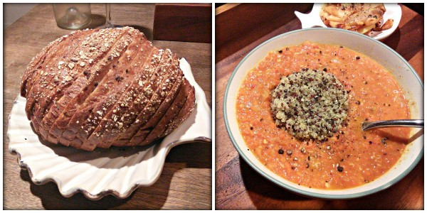 dystopian dinner Hunger Games inspired meal Carrot Soup with 5 Grain Bread