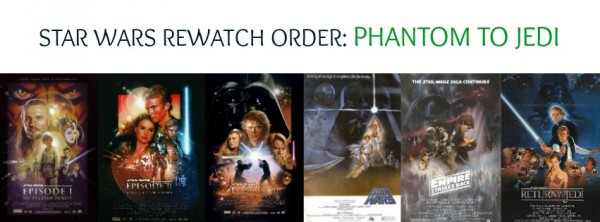 Star Wars Rewatch Order Phantom to Jedi