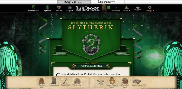 Slytherin House Sorting Pottermore Harry Potter JK Rowling