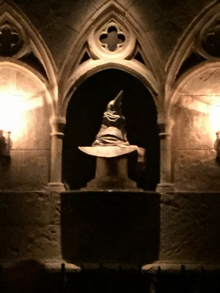 Hogwarts Sorting Hat Forbidden Journey Ride Wizarding World Harry Potter Universal Studios Orlando Florida