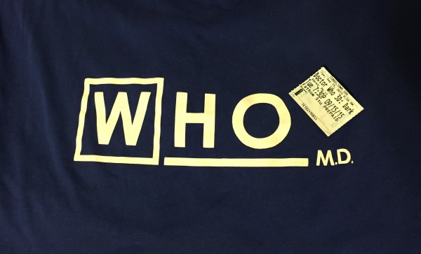 Doctor Who shirt with ticket stub