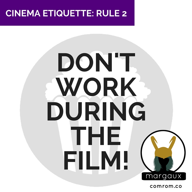 Cinema Etiquette crimson peak movie theater work