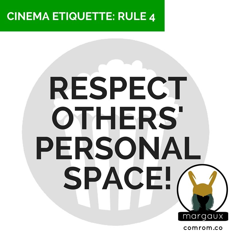 Cinema Etiquette phone off crimson peak movie theater personal space