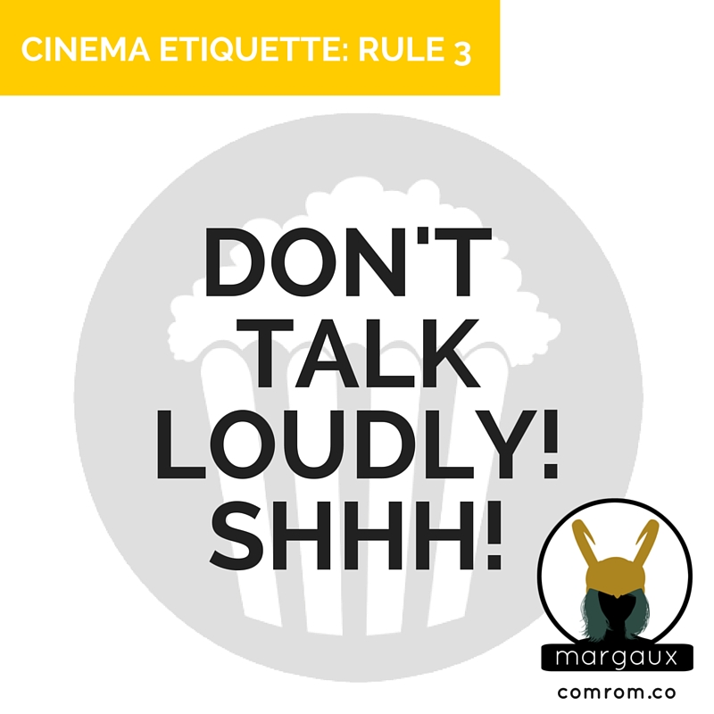 Cinema Etiquette phone off crimson peak movie theater talk