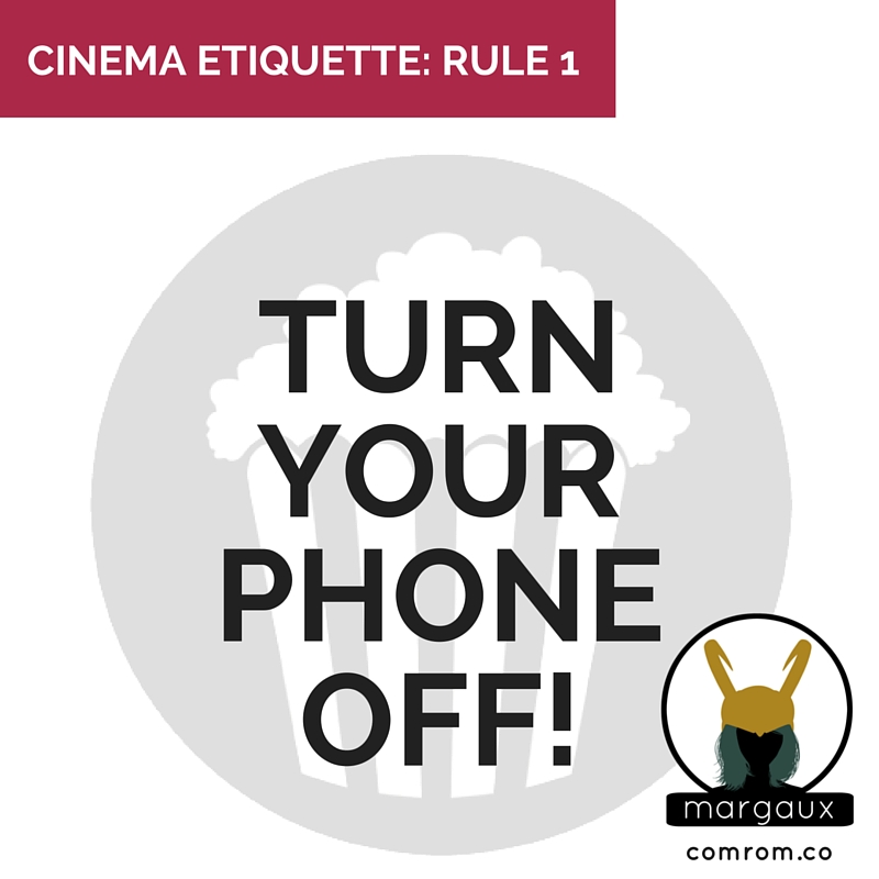 Cinema Etiquette phone off crimson peak movie theater