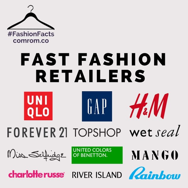 Forever 21 H&M Gap Wet Seal Uniqlo Topshop Miss Selfridge Charlotte Russe