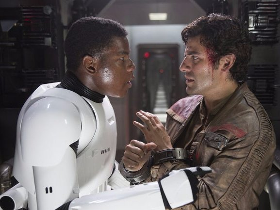 Star Wars The Force Awakens Poe Dameron Finn Oscar Isaac John Boyega