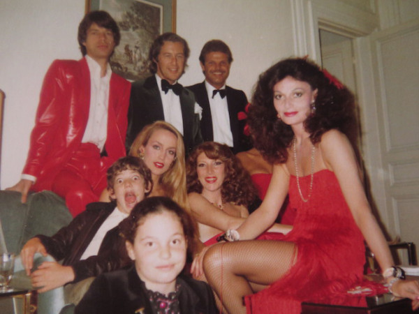 mick jagger martin summers jerry hall nona summers dvf
